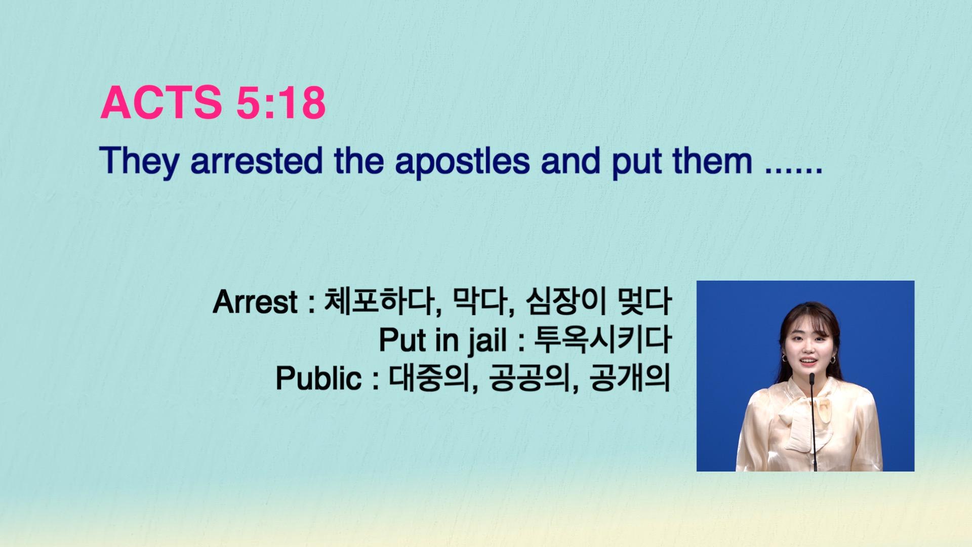 Leena's Bible English-Acts Chap. 5, Ver.18