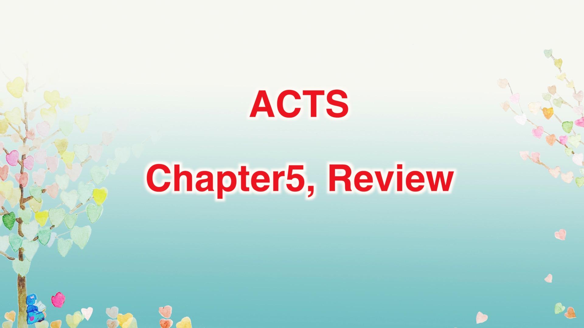 Leena's Bible English-Acts Chap. 5 Review