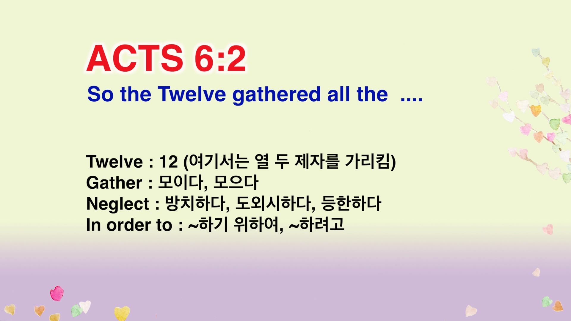 Leena's Bible English-Acts Chap. 6, Ver.2