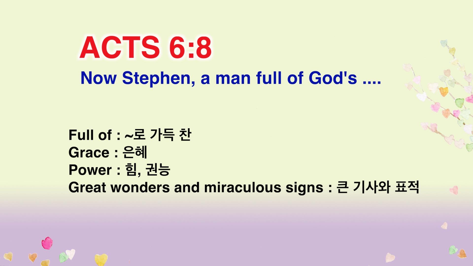 Leena's Bible English-Acts Chap. 6, Ver.8
