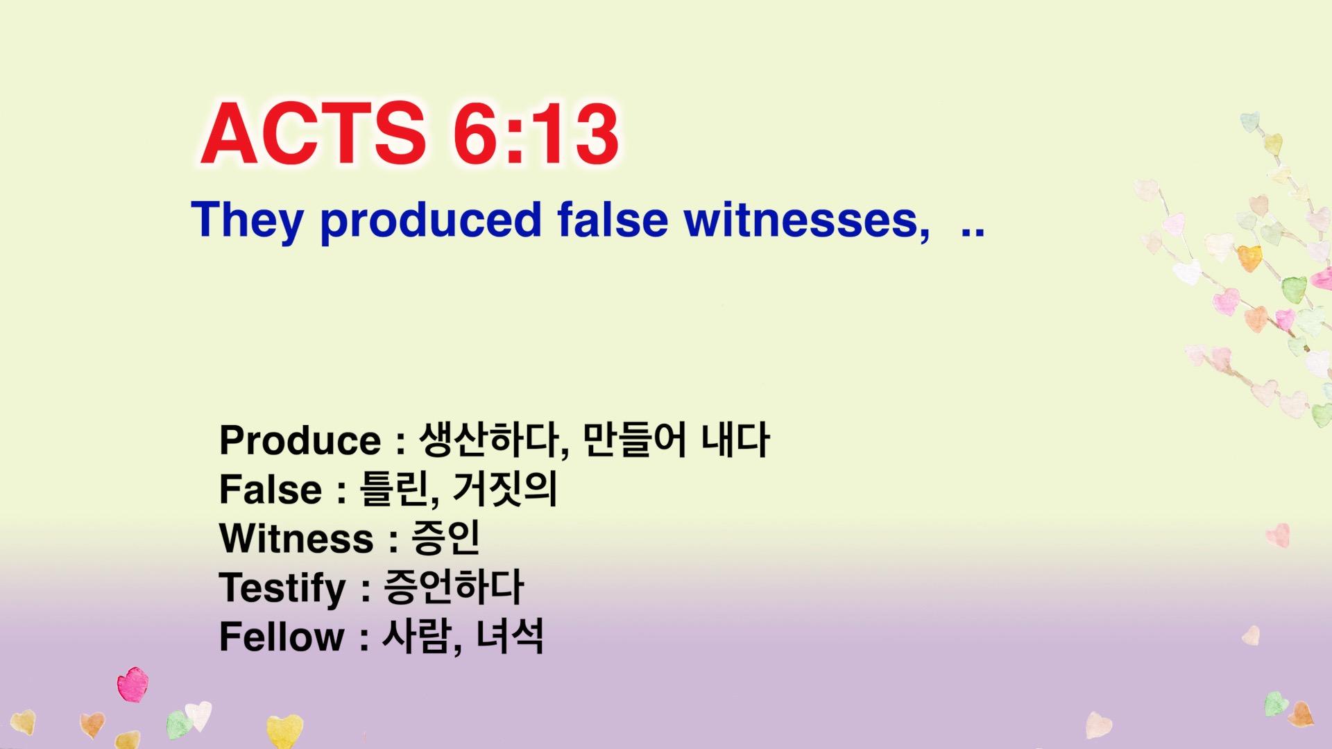 Leena's Bible English-Acts Chap. 6, Ver.13